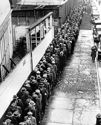 Depression-Era Bread Line