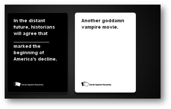 Cards Against Humanity Raunchy Dirty And Socially Acceptable