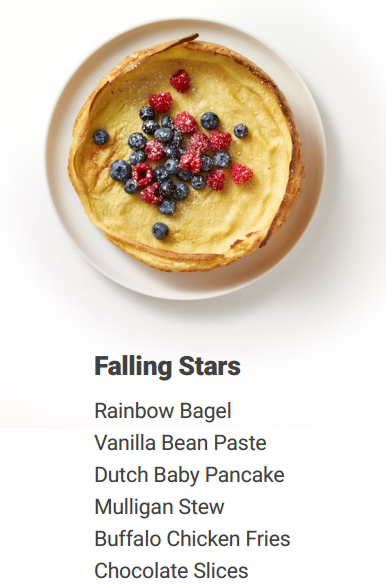 The beloved rainbow bagel, along with vanilla bean paste, Dutch baby ...