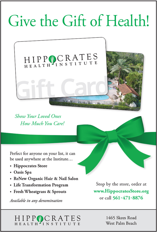 Hippocrates Gift Card Advertisement