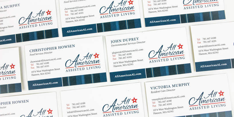 All American Assisted Living Business Cards
