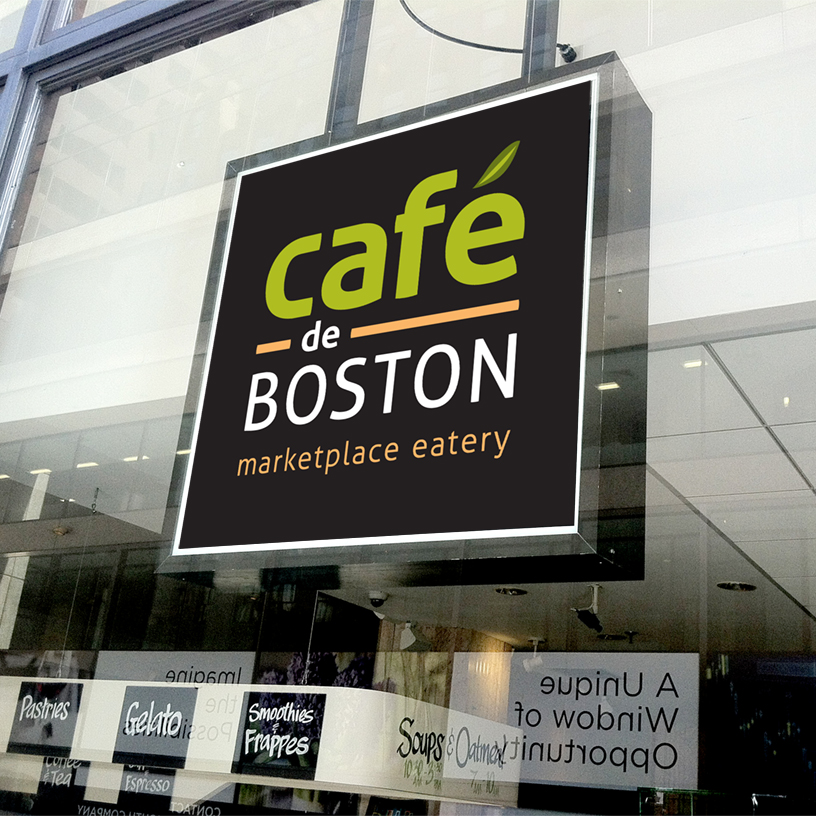 CafedeBoston WindowSign