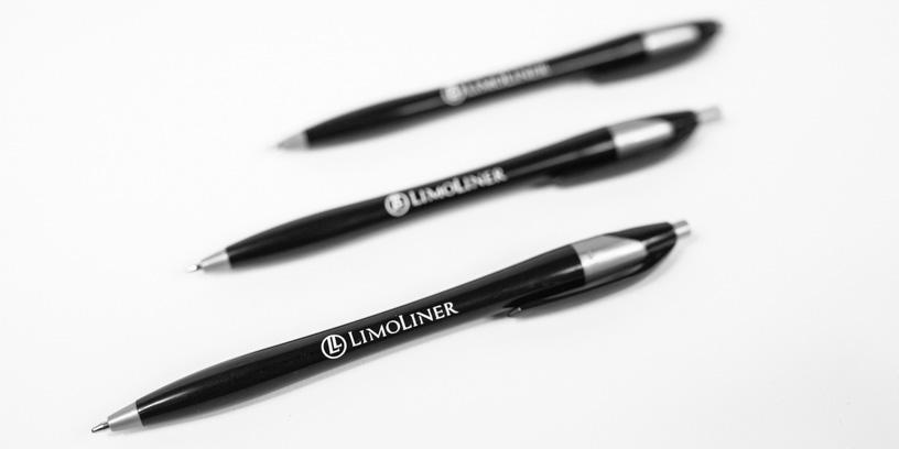 LimoLiner Branded Pens