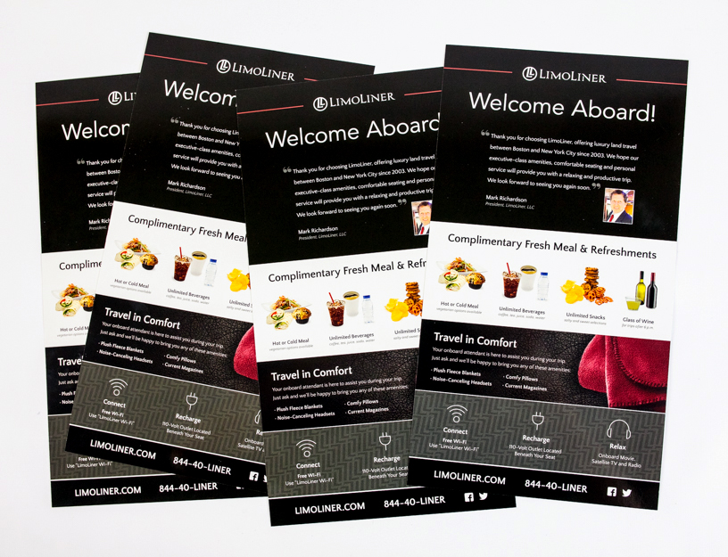 LimoLiner Welcome Aboard Card