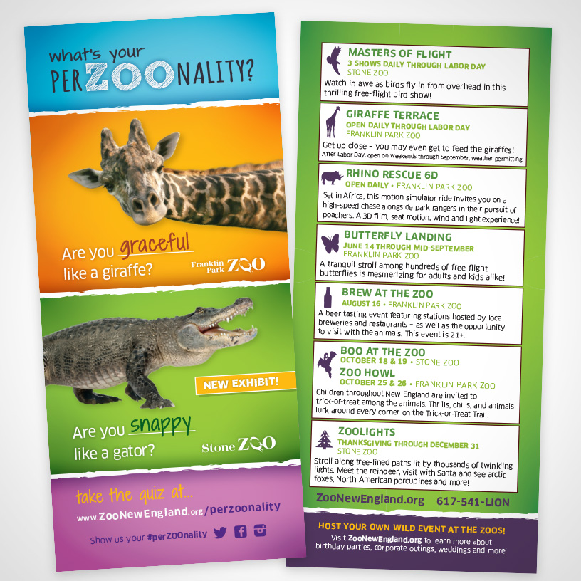 Zoo New England PerZOOnality Rack Card