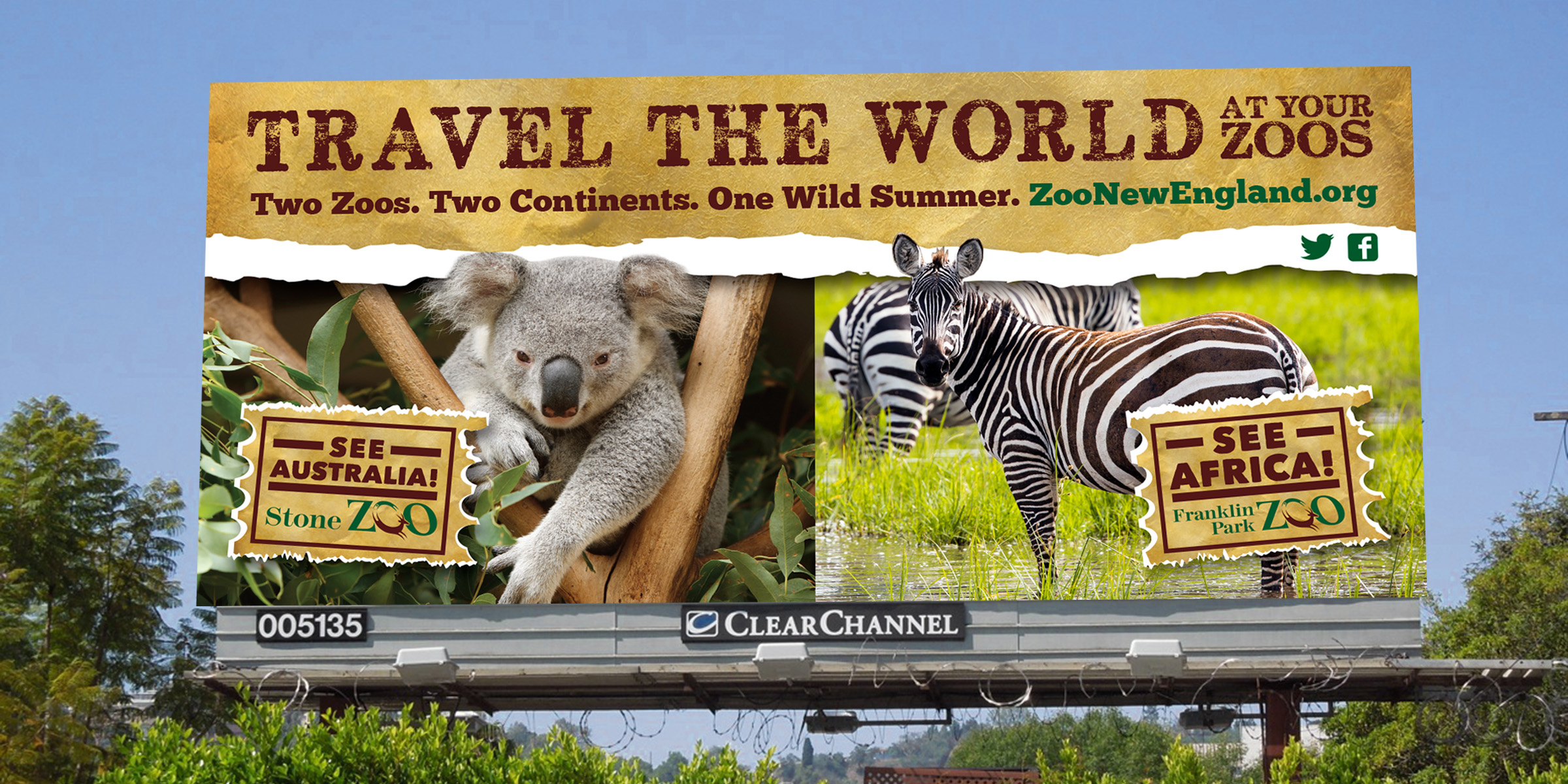 Zoo New England Travel The World Billboard