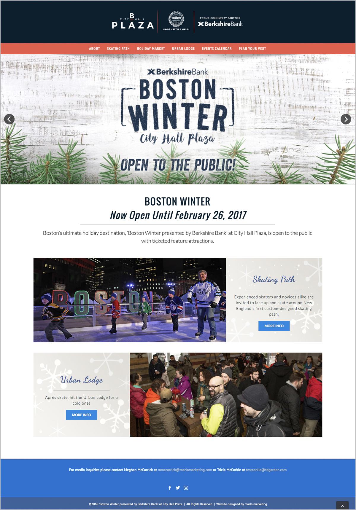 Boston City Hall Website Interior Page