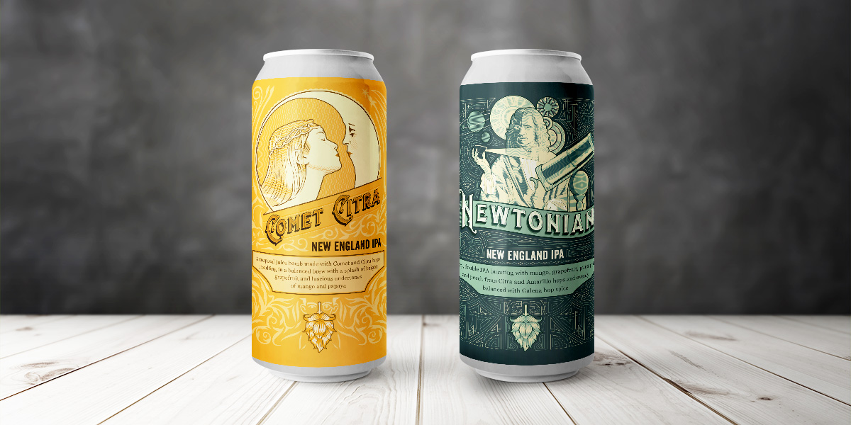 Hopsters Beer Cans Designs