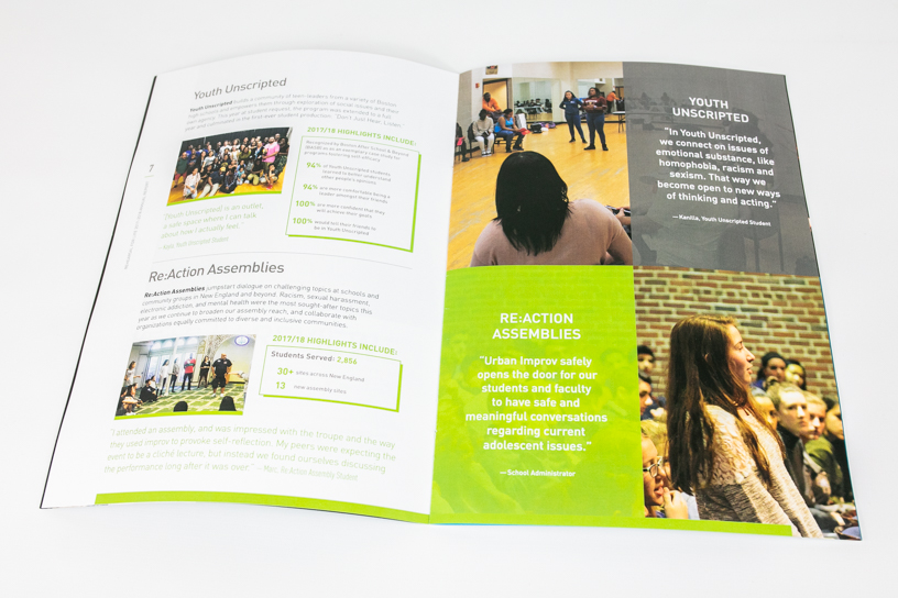 Rehearsal For Life 2017-2018 Annual Report Interior Page