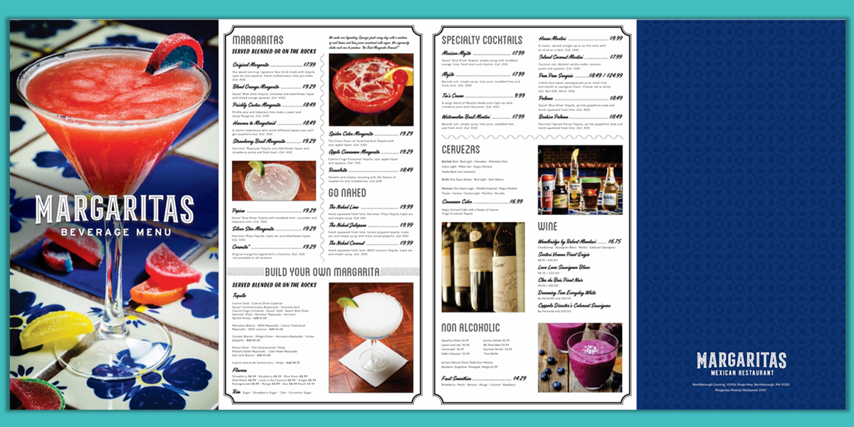 Margaritas Beverage Menu Concept