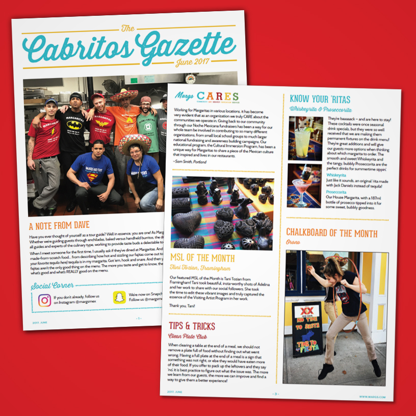 Margaritas Cabritos Gazette – Internal Company Newsletter