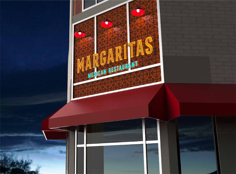 Margaritas Exterior Signage Concept
