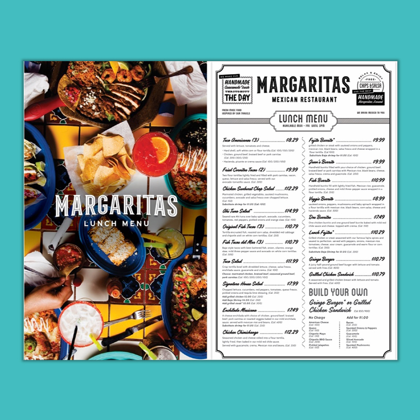 Margaritas Lunch Menu Concept