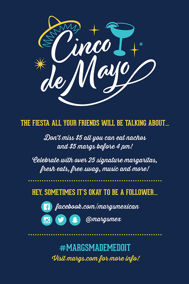 Margaritas Cinco de May Promotion