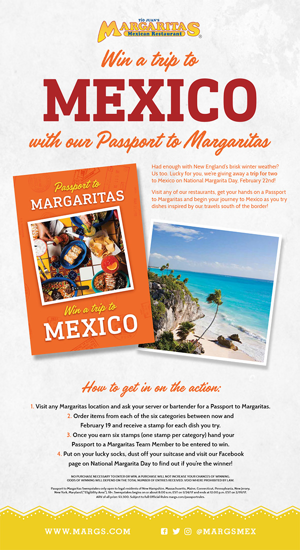 Margaritas National Margarita Day Promotion