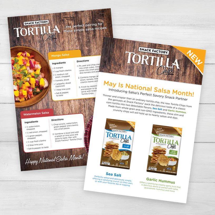 Pretzel Crisps® Tortilla Mailer Insert Cards