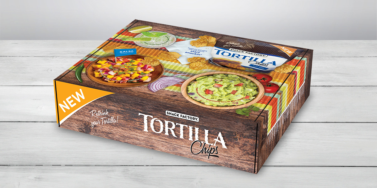 Pretzel Crisps® Tortilla Media Mailer