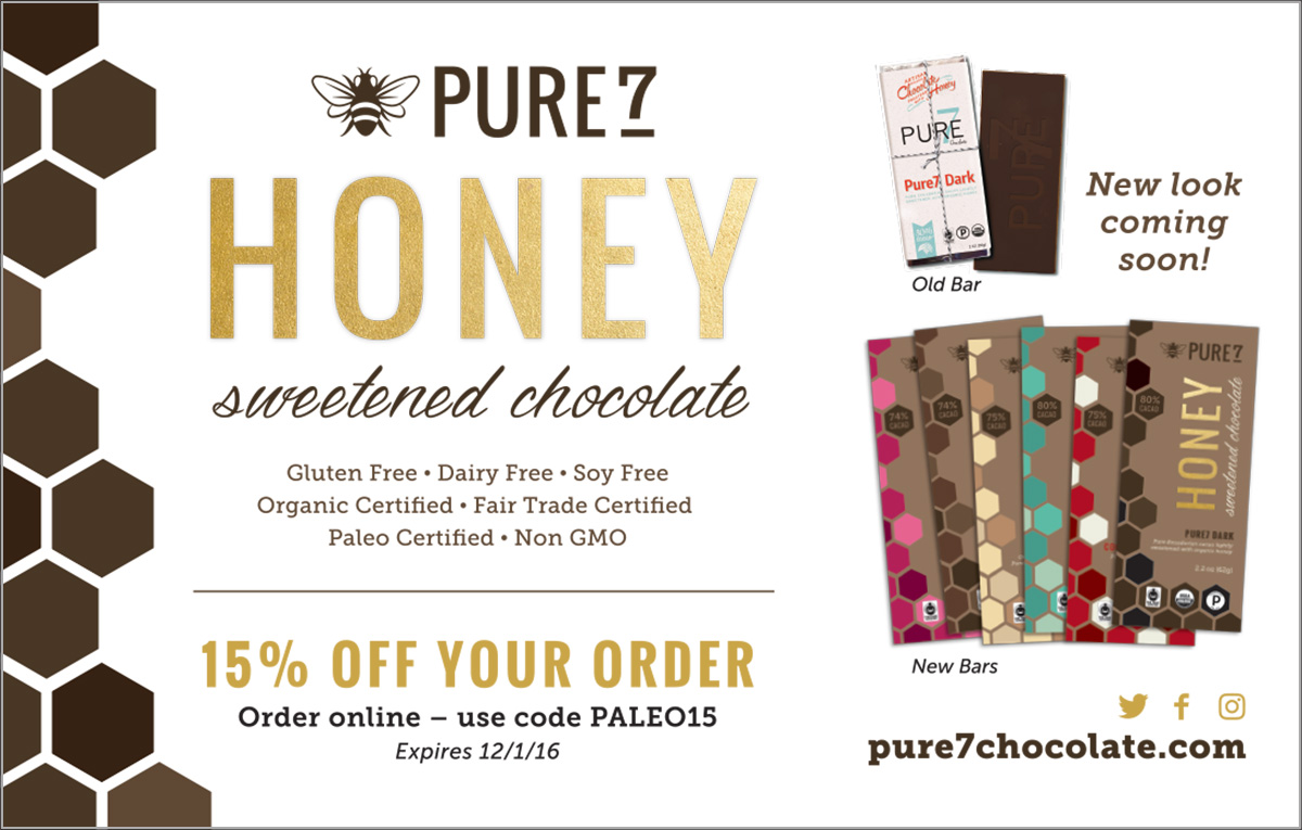 Pure7 Chocolate Paleo Magazine Advertisement
