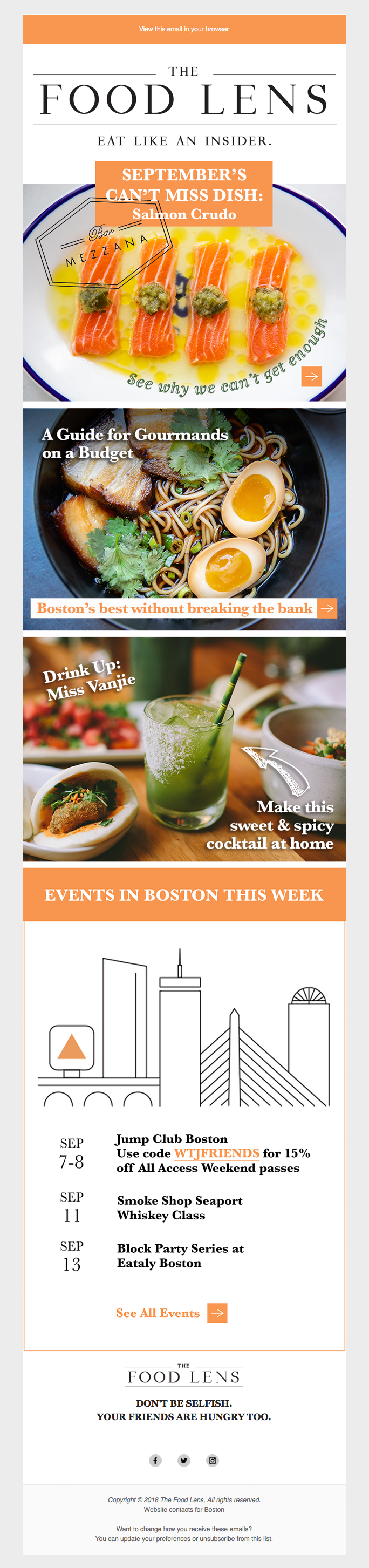 The Food Lens Email Campaign