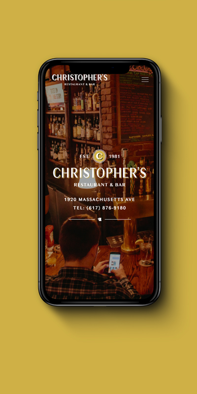 Christophers Mobile Interior Webage
