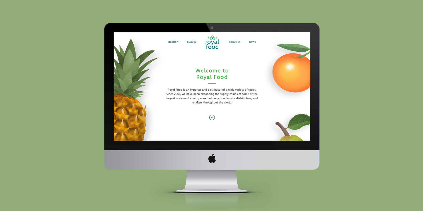 Royal Food Website Homepage