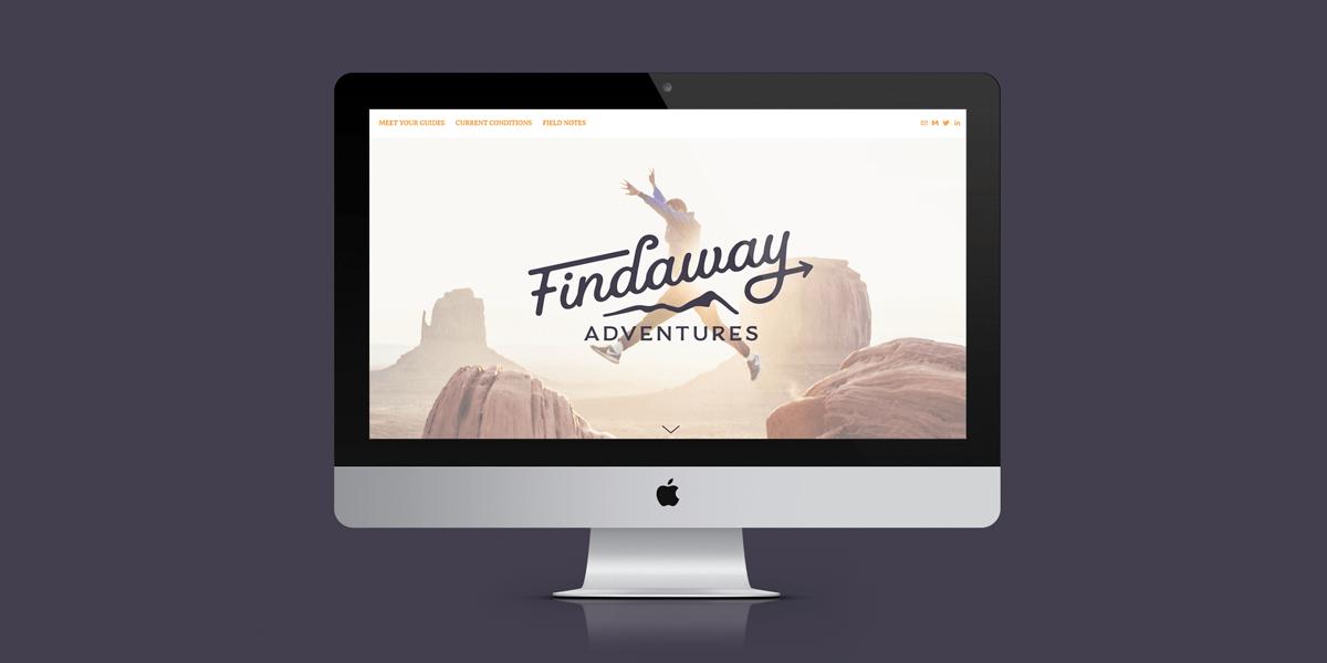 Findaway Adventures – Website Homepage