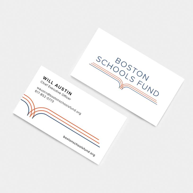 Boston Schools Fund Business Cards
