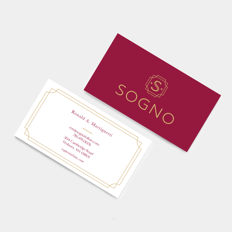 Sogno Business Card