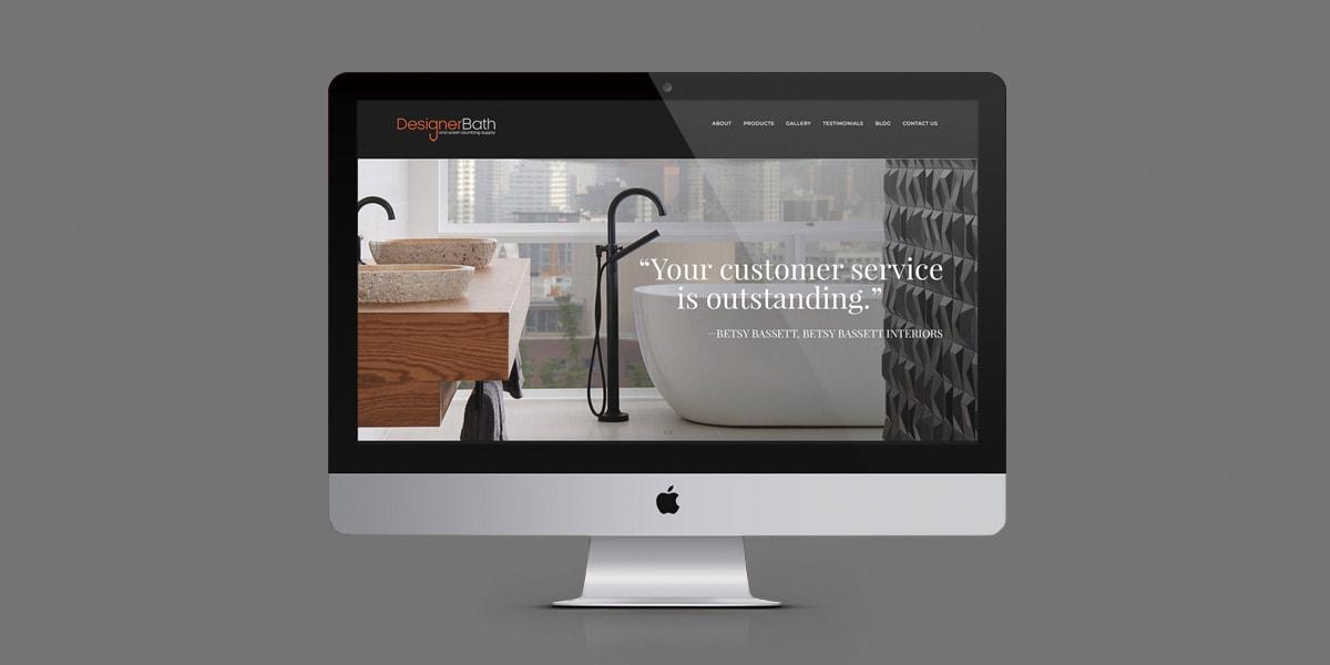 Designer Bath Website Homepage