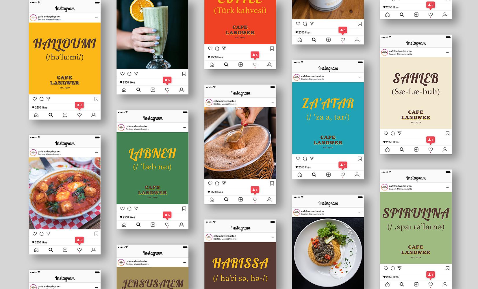 Cafe Landwer Instagram Content